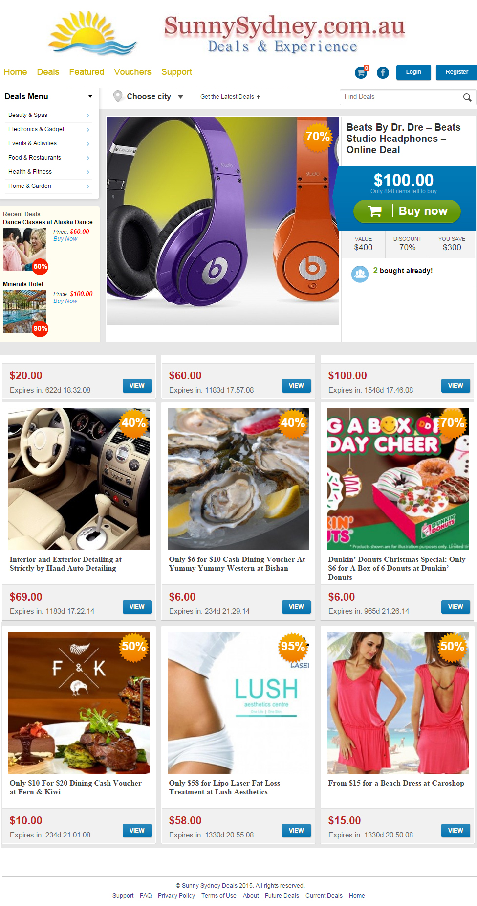 Deals – Commerce website Development