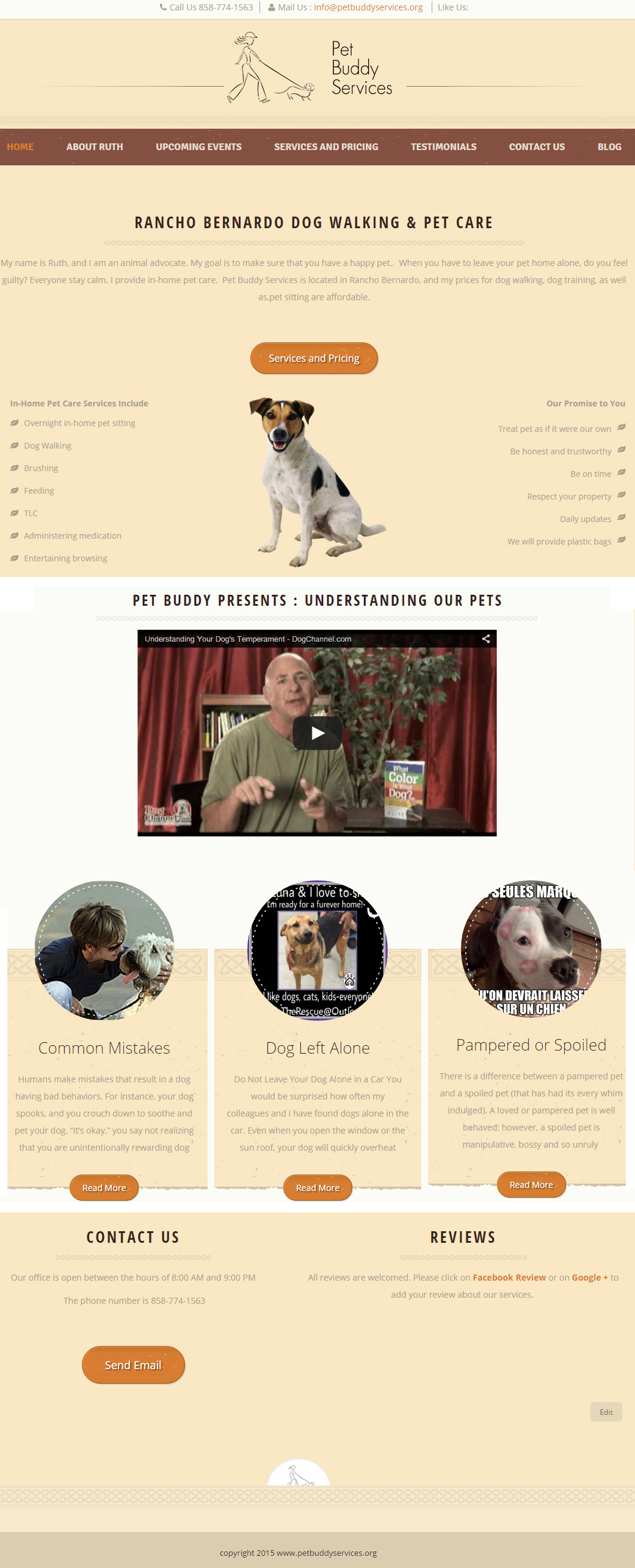 Pets Care Website Design
